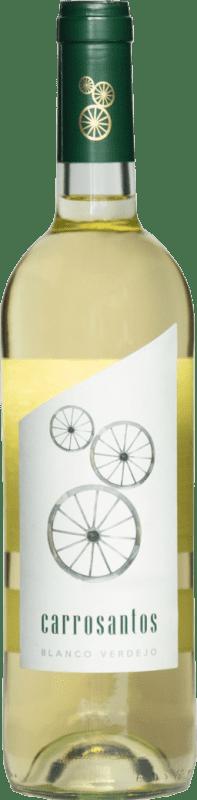 2,95 € Free Shipping | White wine Thesaurus Carrosantos Joven I.G.P. Vino de la Tierra de Castilla y León Castilla y León Spain Viura, Verdejo, Sauvignon White Bottle 75 cl