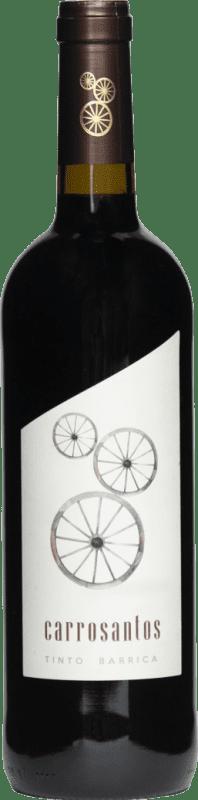 2,95 € Spedizione Gratuita | Vino rosso Thesaurus Carrosantos Joven I.G.P. Vino de la Tierra de Castilla y León Castilla y León Spagna Tempranillo Bottiglia 75 cl