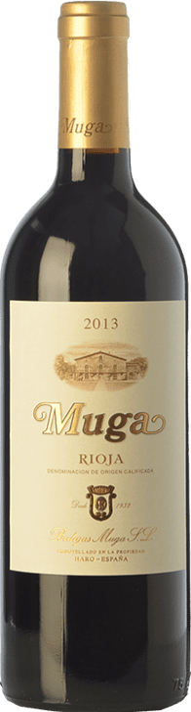 37,95 € Envío gratis | Vino tinto Muga Crianza D.O.Ca. Rioja La Rioja España Tempranillo, Garnacha, Graciano, Mazuelo Botella Mágnum 1,5 L