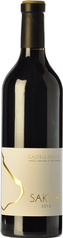 163,95 € Free Shipping | Red wine Castell d'Encús Saktih D.O. Costers del Segre Catalonia Spain Cabernet Sauvignon, Petit Verdot Bottle 75 cl