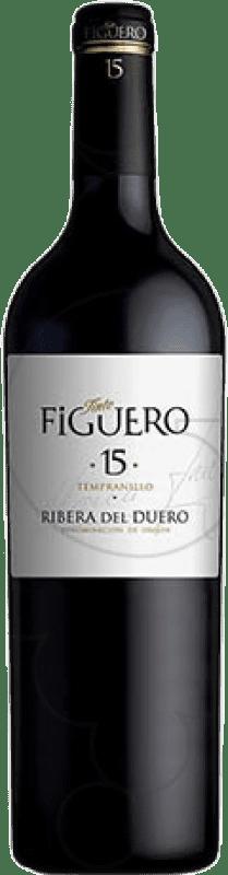 235,95 € Free Shipping | Red wine Figuero 15 Meses Reserva D.O. Ribera del Duero Castilla y León Spain Tempranillo Special Bottle 5 L