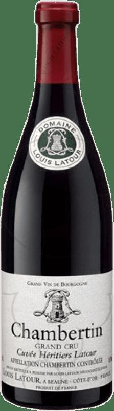 243,95 € Free Shipping | Red wine Louis Latour Grand Cru A.O.C. Chambertin Burgundy France Pinot Black Bottle 75 cl