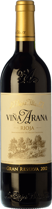 27,95 € Free Shipping | Red wine Rioja Alta Viña Arana Gran Reserva D.O.Ca. Rioja The Rioja Spain Tempranillo, Graciano Bottle 75 cl