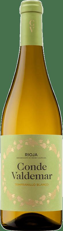 9,95 € Free Shipping | White wine Valdemar Conde de Valdemar Blanco Joven D.O.Ca. Rioja The Rioja Spain Tempranillo Bottle 75 cl