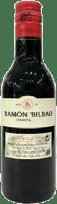 2,95 € Free Shipping | Red wine Ramón Bilbao Crianza D.O.Ca. Rioja The Rioja Spain Tempranillo Small Bottle 18 cl