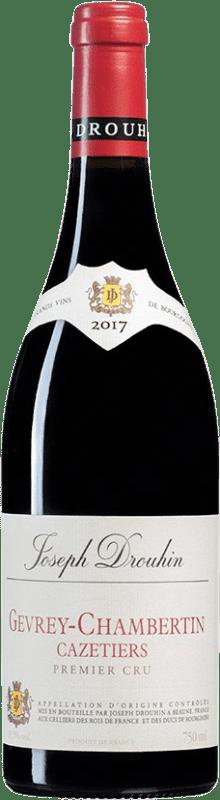 139,95 € Free Shipping | Red wine Drouhin 1er Cru Cazetiers A.O.C. Gevrey-Chambertin Burgundy France Pinot Black Bottle 75 cl