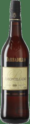 102,95 € Kostenloser Versand | Verstärkter Wein Barbadillo Amontillado V.O.R.S. Very Old Rare Sherry D.O. Jerez-Xérès-Sherry Andalusien Spanien Palomino Fino Flasche 75 cl