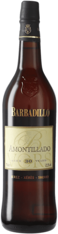 102,95 € Free Shipping | Fortified wine Barbadillo Amontillado V.O.R.S. Very Old Rare Sherry D.O. Jerez-Xérès-Sherry Andalusia Spain Palomino Fino Bottle 75 cl