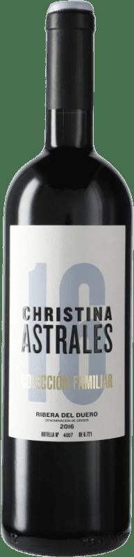 35,95 € Envoi gratuit | Vin rouge Astrales Christina D.O. Ribera del Duero Castille et Leon Espagne Tempranillo Bouteille 75 cl