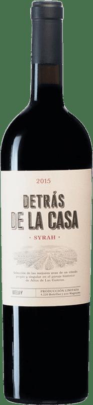 25,95 € Envío gratis | Vino tinto Castaño Detrás de la Casa D.O. Yecla España Syrah Botella Mágnum 1,5 L