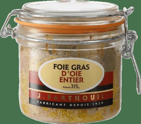 81,95 € Free Shipping | Foie y Patés J. Barthouil Foie Gras d'Oie Entier France