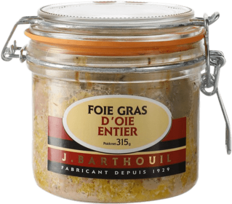 81,95 € Envío gratis | Foie y Patés J. Barthouil Foie Gras d'Oie Entier Francia