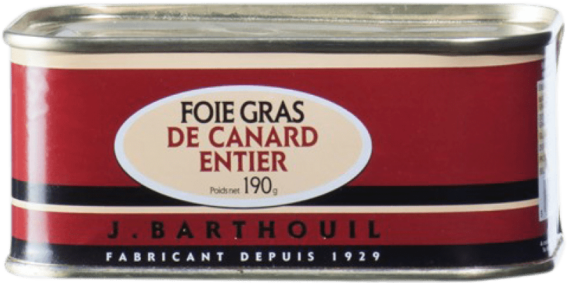 28,95 € Envío gratis | Foie y Patés J. Barthouil Foie Grass de Canard Entier Francia