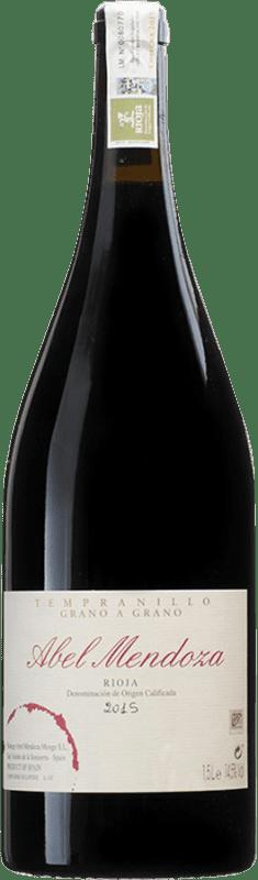 95,95 € Free Shipping | Red wine Abel Mendoza Grano a Grano D.O.Ca. Rioja Spain Tempranillo Magnum Bottle 1,5 L