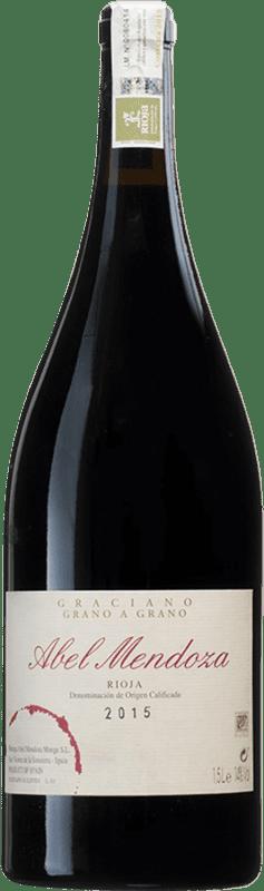 95,95 € Kostenloser Versand | Rotwein Abel Mendoza Grano a Grano D.O.Ca. Rioja Spanien Graciano Magnum-Flasche 1,5 L