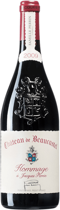 565,95 € Envoi gratuit   Vin rouge Château Beaucastel Hommage à Jacques Perrin 2009 A.O.C. Châteauneuf-du-Pape France Syrah, Mourvèdre Bouteille 75 cl