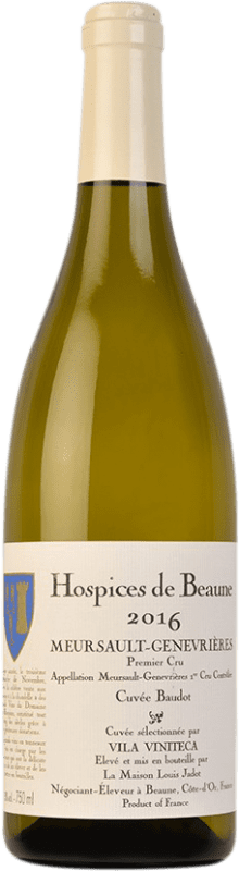 162,95 € Free Shipping | White wine Louis Jadot Hospices de Beaune 1er Cru Genevrières Cuvée Baudot A.O.C. Meursault Burgundy France Chardonnay Bottle 75 cl
