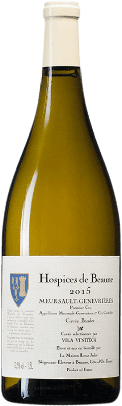 509,95 € Free Shipping | White wine Louis Jadot Hospices de Beaune 1er Cru Genevrières Cuvée Baudot A.O.C. Meursault Burgundy France Chardonnay Magnum Bottle 1,5 L
