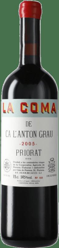 91,95 € Envío gratis | Vino tinto Cims de Porrera La Coma de Ca l'Anton Grau 2005 D.O.Ca. Priorat Cataluña España Cariñena Botella 75 cl