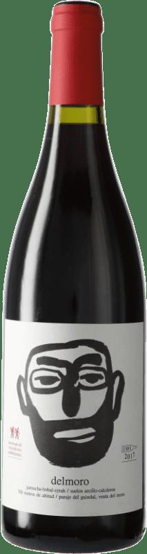 8,95 € Envío gratis | Vino tinto Javi Revert La Comarcal Delmoro D.O. Valencia Comunidad Valenciana España Moristel Botella 75 cl