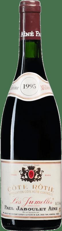 83,95 € Envío gratis | Vino tinto Jaboulet Aîné Les Jumelles 1995 A.O.C. Côte-Rôtie Francia Syrah Botella 75 cl