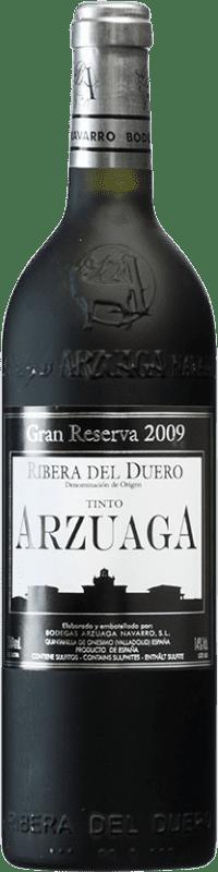 89,95 € Envío gratis | Vino tinto Arzuaga Gran Reserva 2009 D.O. Ribera del Duero Castilla y León España Tempranillo, Merlot, Cabernet Sauvignon Botella 75 cl