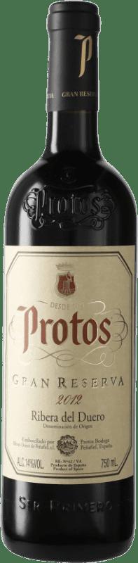 37,95 € Envío gratis | Vino tinto Protos Gran Reserva D.O. Ribera del Duero Castilla y León España Tempranillo Botella 75 cl