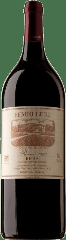 39,95 € Envío gratis | Vino tinto Ntra. Sra de Remelluri Reserva D.O.Ca. Rioja España Tempranillo, Garnacha, Graciano, Mazuelo, Viura Botella Mágnum 1,5 L
