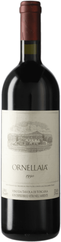 314,95 € Envío gratis | Vino tinto Ornellaia 1990 D.O.C. Bolgheri Italia Merlot, Cabernet Sauvignon, Cabernet Franc, Petit Verdot Botella 75 cl
