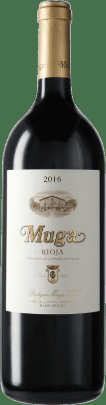 32,95 € Envío gratis | Vino tinto Muga Crianza D.O.Ca. Rioja España Botella Mágnum 1,5 L
