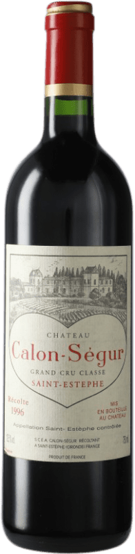 186,95 € Envoi gratuit | Vin rouge Château Calon Ségur 1996 A.O.C. Bordeaux Bordeaux France Merlot, Cabernet Sauvignon Bouteille 75 cl