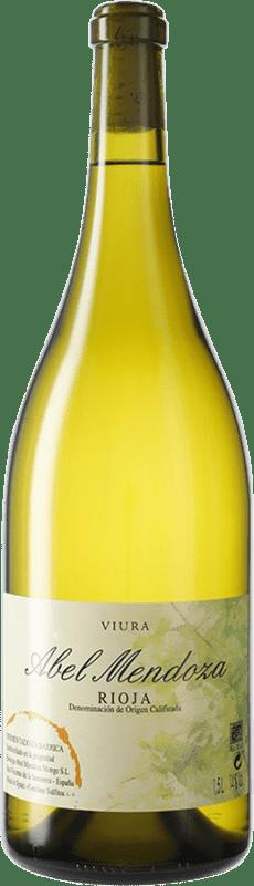 51,95 € Free Shipping | White wine Abel Mendoza D.O.Ca. Rioja Spain Viura Magnum Bottle 1,5 L