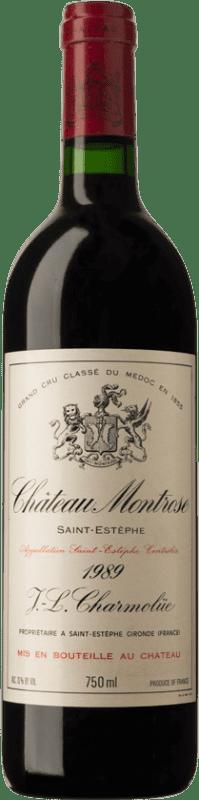 765,95 € Free Shipping | Red wine Château Montrose 1989 A.O.C. Bordeaux Bordeaux France Merlot, Cabernet Sauvignon, Cabernet Franc, Petit Verdot Bottle 75 cl