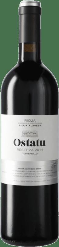 16,95 € Envío gratis | Vino tinto Ostatu Reserva D.O.Ca. Rioja España Tempranillo Botella 75 cl