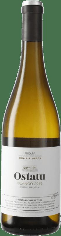 5,95 € Envío gratis | Vino blanco Ostatu D.O.Ca. Rioja España Tempranillo Botella 75 cl
