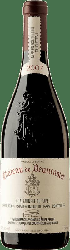 129,95 € Free Shipping   Red wine Château Beaucastel 2007 A.O.C. Châteauneuf-du-Pape France Syrah, Grenache, Mourvèdre Bottle 75 cl