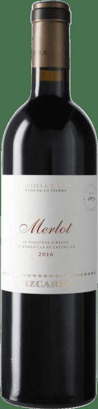 34,95 € Free Shipping | Red wine Vizcarra I.G.P. Vino de la Tierra de Castilla y León Castilla y León Spain Merlot Bottle 75 cl