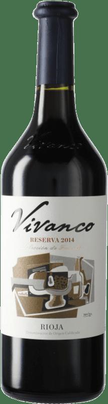 14,95 € Free Shipping | Red wine Vivanco Reserva D.O.Ca. Rioja Spain Bottle 75 cl