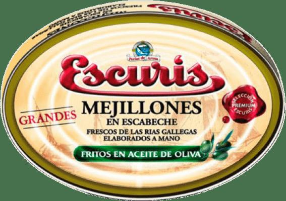 31,95 € Free Shipping | Conservas de Marisco Escurís Mejillón en Escabeche Spain 25/30 Pieces