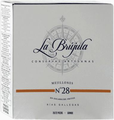 15,95 € Envío gratis | Conservas de Marisco La Brújula Mejillones España 20/25 Piezas