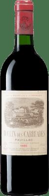 229,95 € Kostenloser Versand | Rotwein Barons de Rothschild Moulin des Carruades 1985 A.O.C. Bordeaux Bordeaux Frankreich Merlot, Cabernet Sauvignon, Cabernet Franc, Petit Verdot Flasche 75 cl