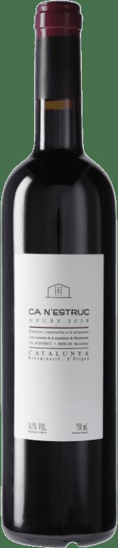 4,95 € Envío gratis | Vino tinto Ca N'Estruc Negre D.O. Catalunya Cataluña España Tempranillo, Syrah, Garnacha Botella 75 cl
