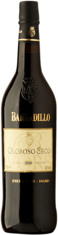 102,95 € Free Shipping | Fortified wine Barbadillo Oloroso V.O.R.S. Very Old Rare Sherry Dry D.O. Jerez-Xérès-Sherry Andalusia Spain Palomino Fino Bottle 75 cl