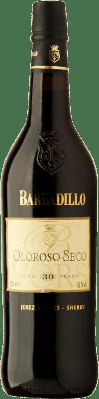 102,95 € Envoi gratuit   Vin fortifié Barbadillo Oloroso V.O.R.S. Very Old Rare Sherry Sec D.O. Jerez-Xérès-Sherry Andalousie Espagne Palomino Fino Bouteille 75 cl