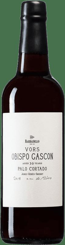 49,95 € Free Shipping | Fortified wine Barbadillo Palo Cortado Obispo Gascón D.O. Jerez-Xérès-Sherry Andalusia Spain Palomino Fino Bottle 75 cl