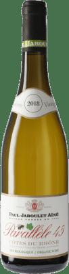 9,95 € Envío gratis | Vino blanco Jaboulet Aîné Parallèle 45 Blanc A.O.C. Côtes du Rhône Francia Garnacha Blanca, Viognier, Marsanne, Bourboulenc Botella 75 cl
