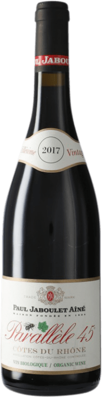 8,95 € Envío gratis | Vino tinto Jaboulet Aîné Parallèle 45 A.O.C. Côtes du Rhône Francia Syrah, Garnacha Botella 75 cl