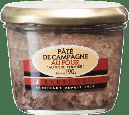 5,95 € Envío gratis | Foie y Patés J. Barthouil Pâté de Campagne au Porc Francia