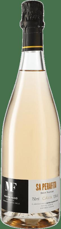 16,95 € Envío gratis | Espumoso rosado Martín Faixó Perafita Rosat Brut Nature D.O. Cava España Botella 75 cl