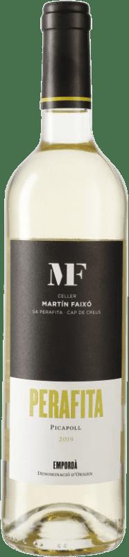 9,95 € Envío gratis | Vino blanco Martín Faixó Perafita D.O. Empordà Cataluña España Picapoll Botella 75 cl
